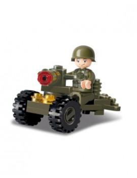 Équipement pour les forces de l'ordre et militaires: Musette militaire en coton canvas TAN