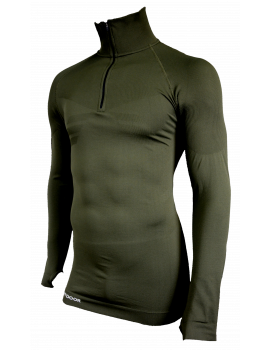 Sweat double soft zippée Vert OD