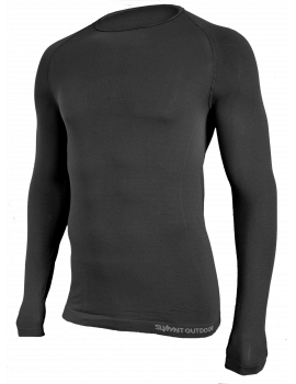 Tee-Shirt Active noir manches longues col rond