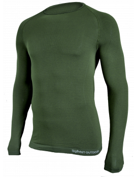 Tee-Shirt Active vert manch longues col rond