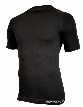 Tee-Shirt Active noir manches courtes col rond