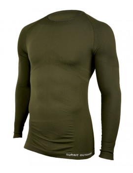 Tee-shirt Technical M.longues col rond Vert Olive